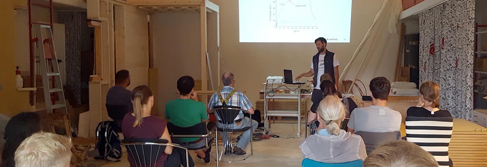 Workshop bei naturbo Lehmputz Trockenbausystemen